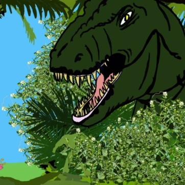 Jungmeise in Gefahr! Dino
